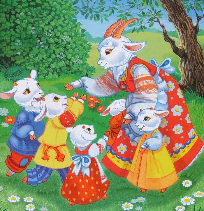 Загадки про казкових героїв: Вовк і семеро козенят