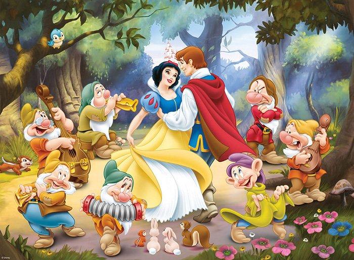 Загадки про героев мультфильмов: Белоснежка и семь гномов