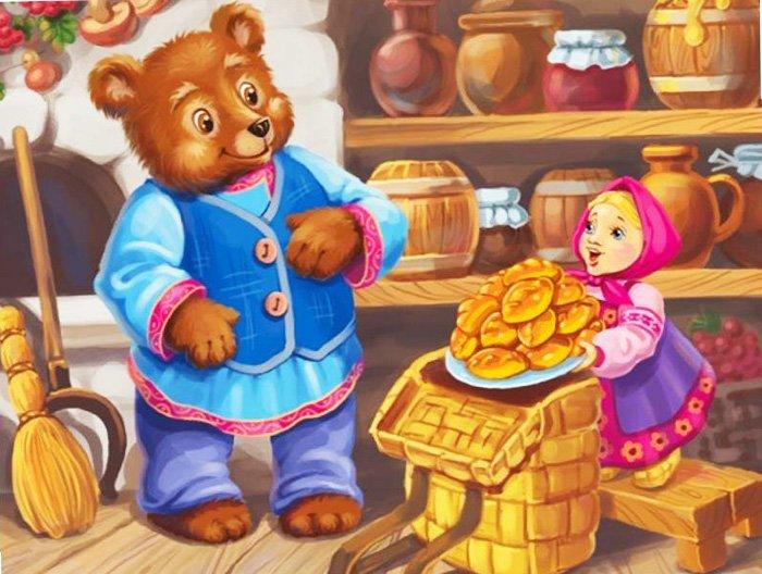 Загадки о сказочных героях: Маша и Медведь