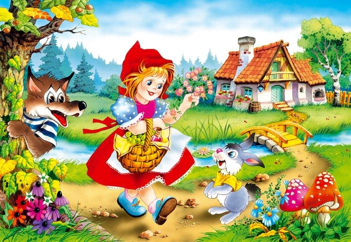 Загадки про героїв мультфільмів: Червона Шапочка