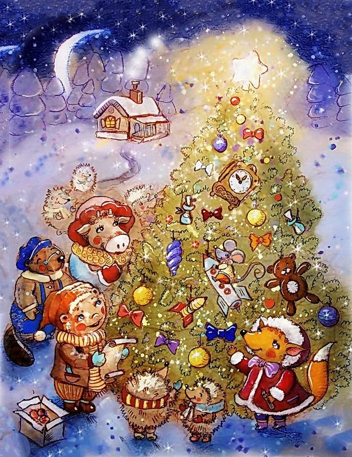 Новогодние загадки для детей