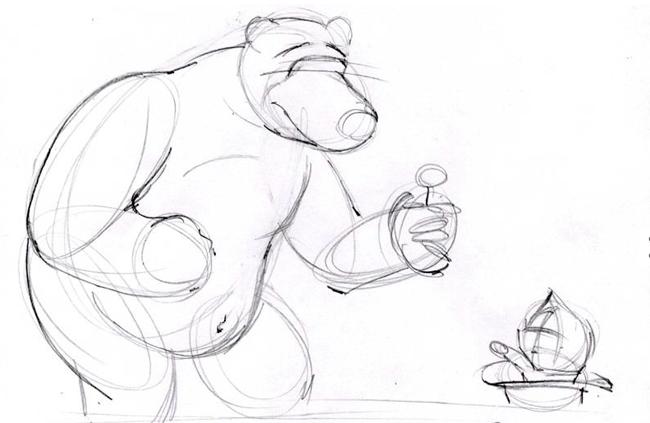 """Малюємо ведмедика з мультфільму """"Маша і Ведмідь"""" крок 3"""