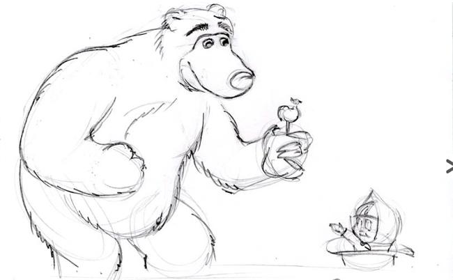 """Малюємо ведмедика з мультфільму """"Маша і Ведмідь"""" крок 4"""