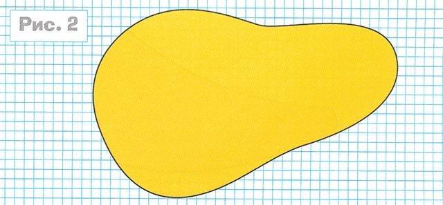 Шаблон груші для аплікації з кольорового картону