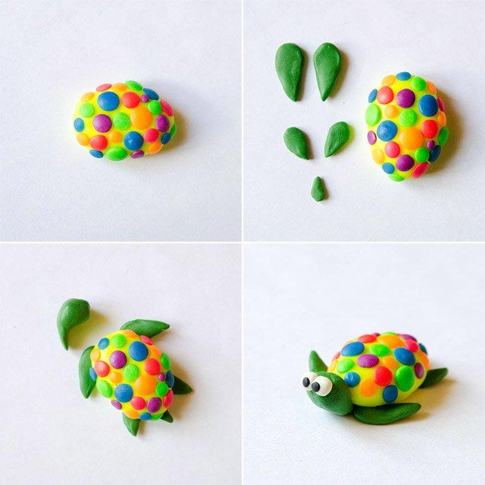 Як ліпити з пластиліну тварин - черепаха, фото 2