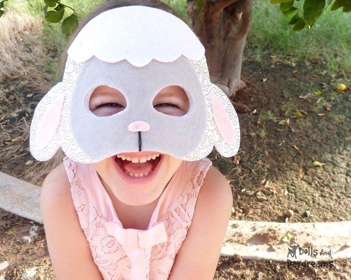 Маскарадні маски вівці з фетру своїми руками, фото 3