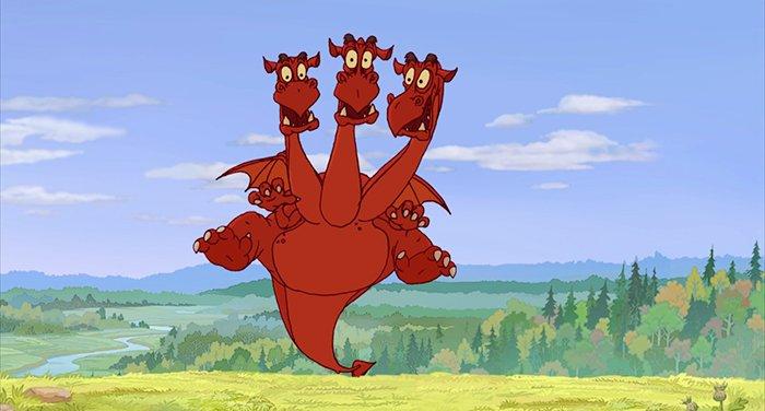 Картинка дракон трехголовый