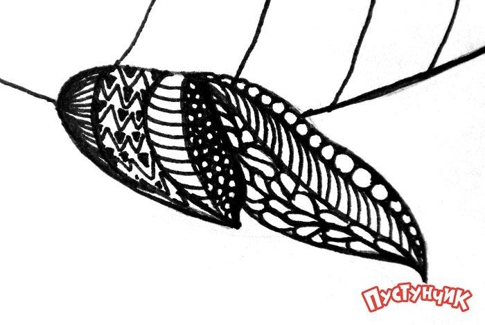 Зентангл животные - рыбка, фото 5