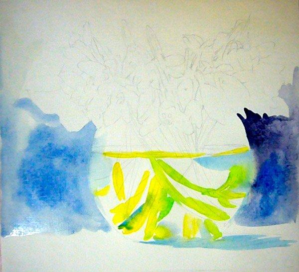 Як малювати підсніжники крок 2