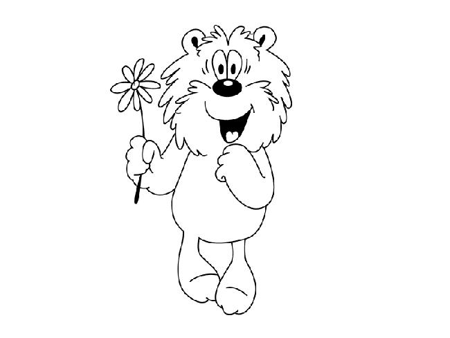Рисуем мишку из мультфильма «Трям! Здравствуйте!» шаг 4