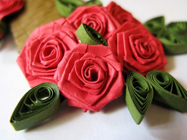 Роза из квиллинга