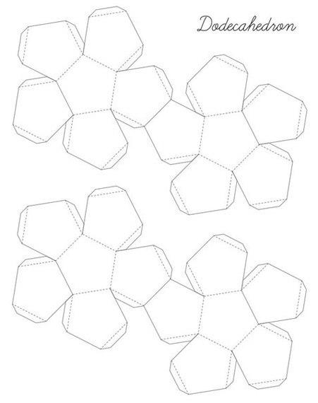 Схема додекаэдра из бумаги
