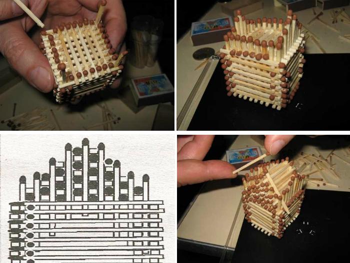 уплотненные домики из спичек схемы для начинающих фото крыши