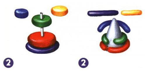 Ліплення з пластиліну в дитячому садку - пірамідка, фото 2