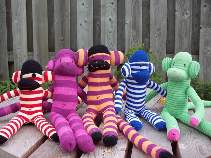 Іграшка мавпочка своїми руками, фото 12 - мавпочка з шкарпетки
