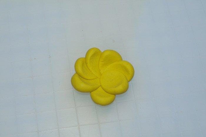 Лепим цветы из пластилина, фото 15