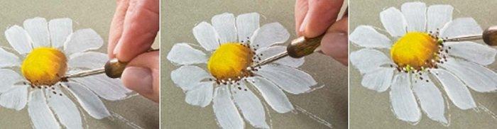 Як малювати ромашку
