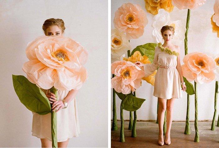 Розы из гофробумаги своими руками - фото 7