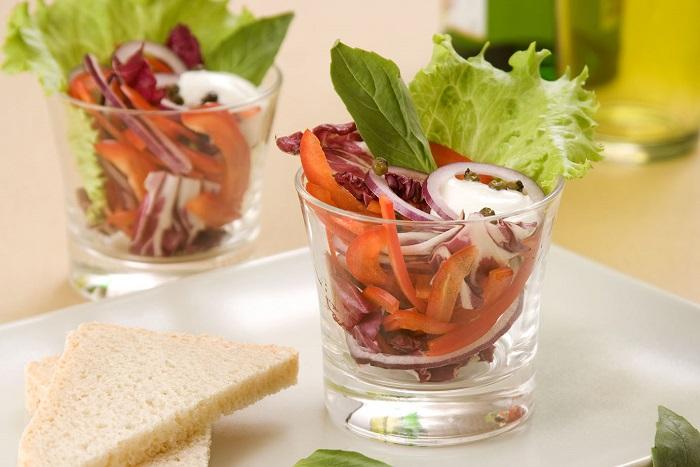 Овощной салат в стакане, рецепт