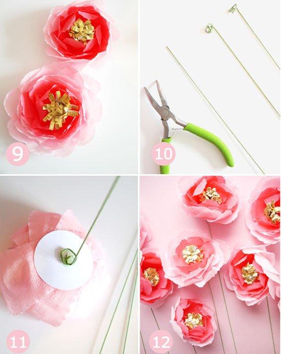Сделать цветы из бумаги своими руками - инструкция 4