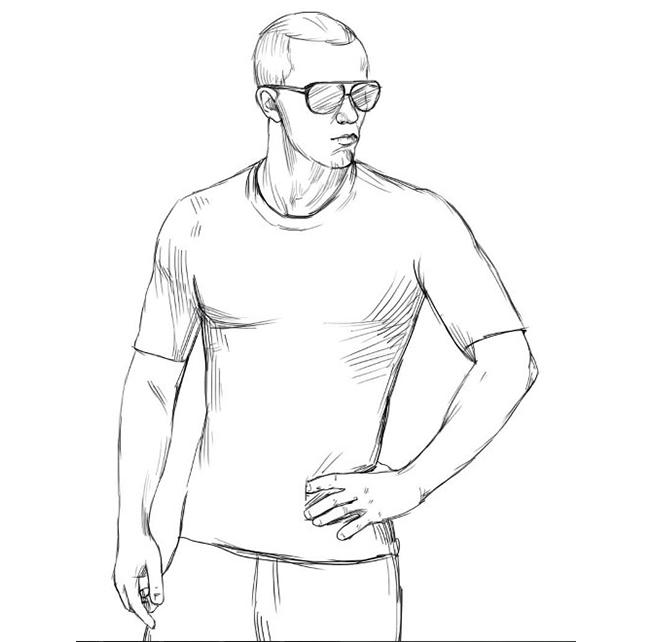 Как нарисовать парня, шаг 5