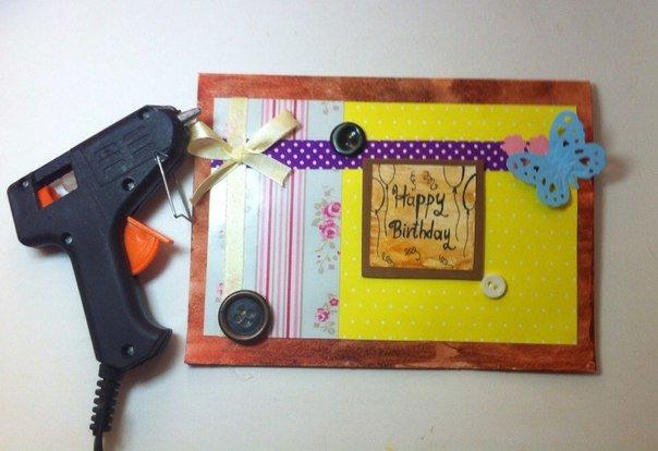 Скрапбукінг, майстер клас: листівка з днем народження своїми руками. Фото 13