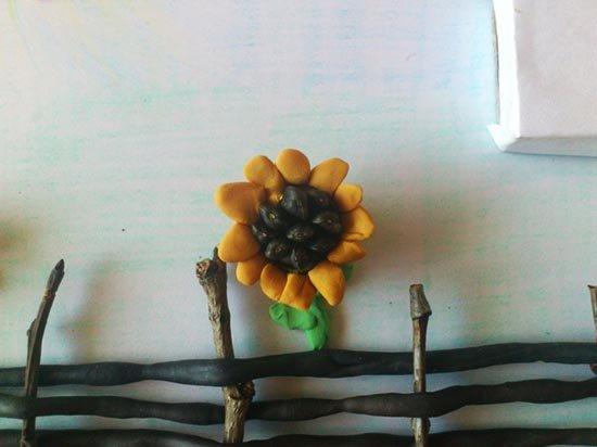 Ліплення з пластиліну в дитячому садку - парканчик, фото 9