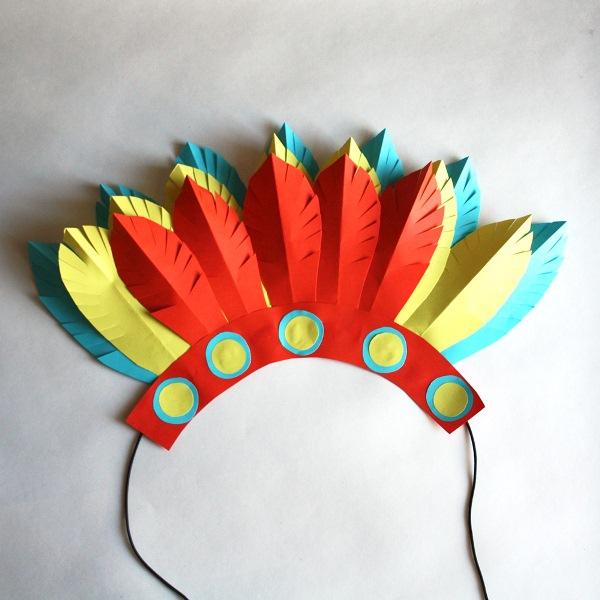 Индейский головной убор своими руками, фото 10