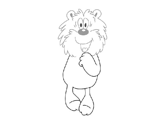 Рисуем мишку из мультфильма «Трям! Здравствуйте!» шаг 2