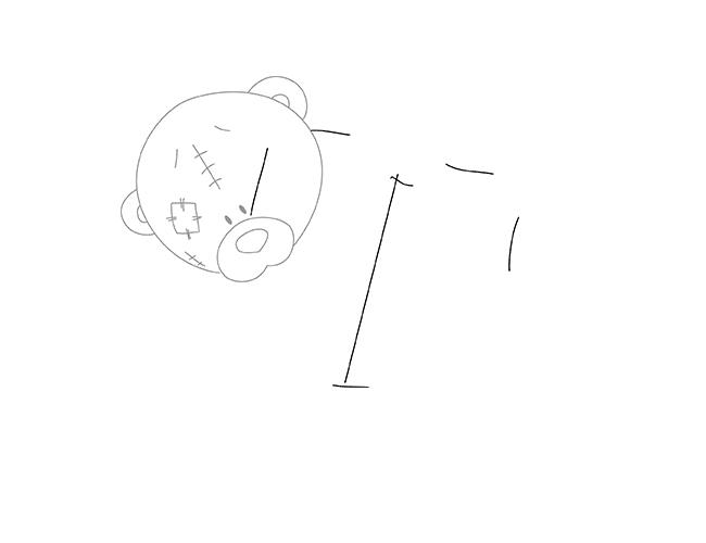 Як намалювати ведмедика Тедді, схема 1, крок 2