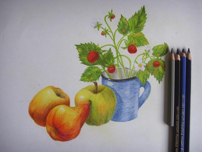 Как нарисовать натюрморт карандашом поэтапно, фото 12