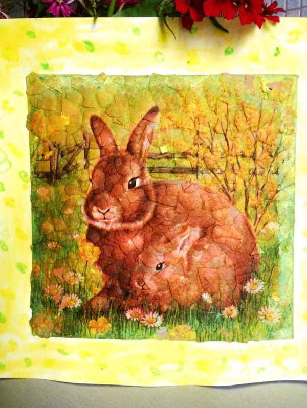 Простая мозаика из яичной скорлупы для детей, фото 12