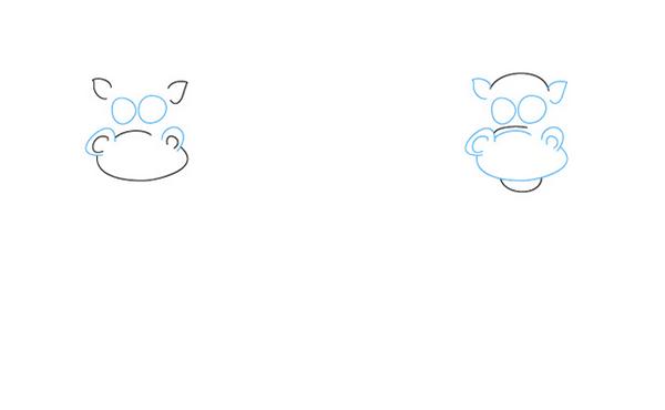 Как рисовать драконов шаг за шагом, схема 5 - этап 2