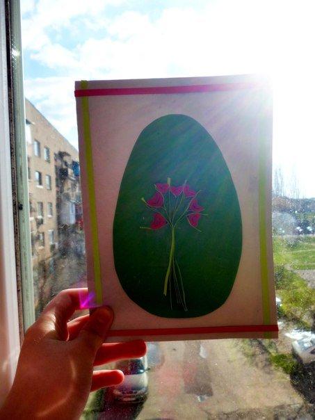 Простая пасхальная открытка своими руками – мастер-класс, фото 11