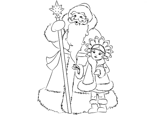 Как нарисовать Снегурочку схема 5
