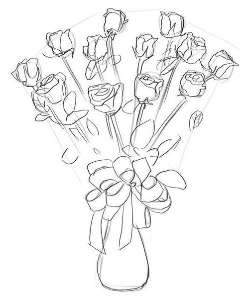Как нарисовать розу шаг за шагом – схема, фото 27