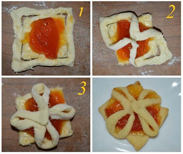 Солодка випічка з готового листкового тіста - фото 7