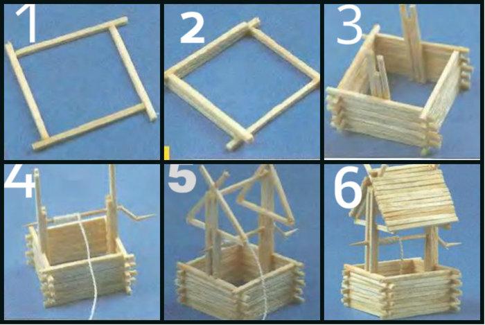 Поделки из спичек с клеем схемы для начинающих дома 31