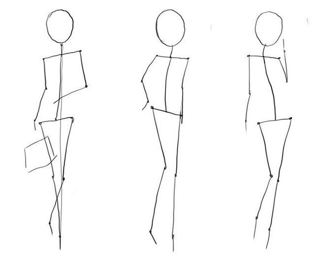 Як намалювати дівчинку, схема 1