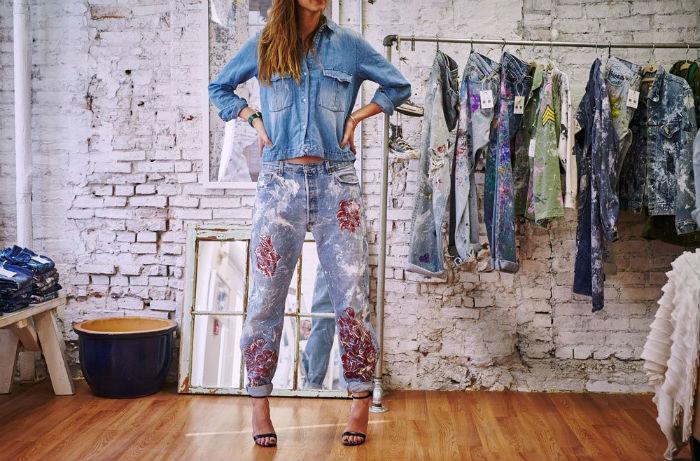 как разрисовать джинсовую куртку