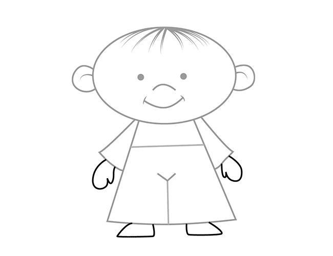 Як намалювати дітей - руки і ноги, схема 5