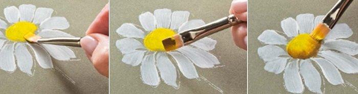 Как рисовать ромашку акварелью