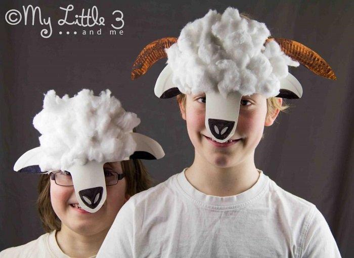 Маскарадні маски вівці з фетру своїми руками, фото 2