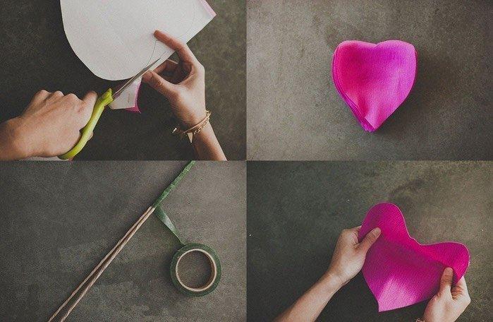 Троянди з гофрованого паперу своїми руками - фото 2