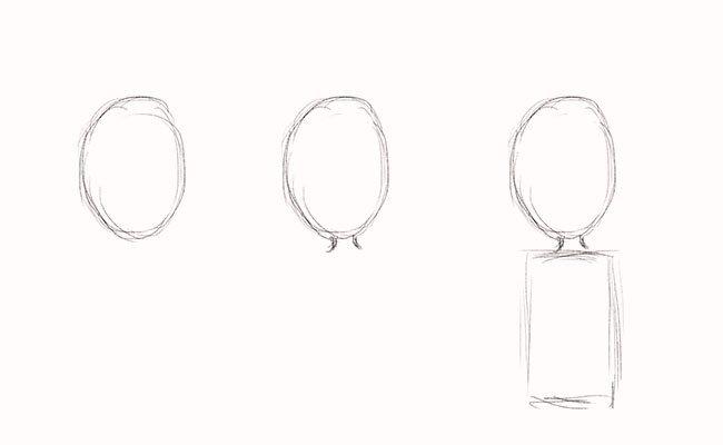 Как нарисовать мальчика, этап 1