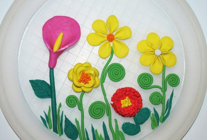 Лепим цветы из пластилина, фото 23