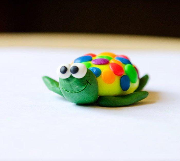 Животные из пластилина - черепаха, фото 3