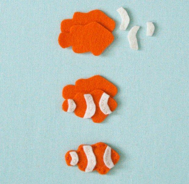 Детские поделки из фетра своими руками - рыбки из фетра, фото 2