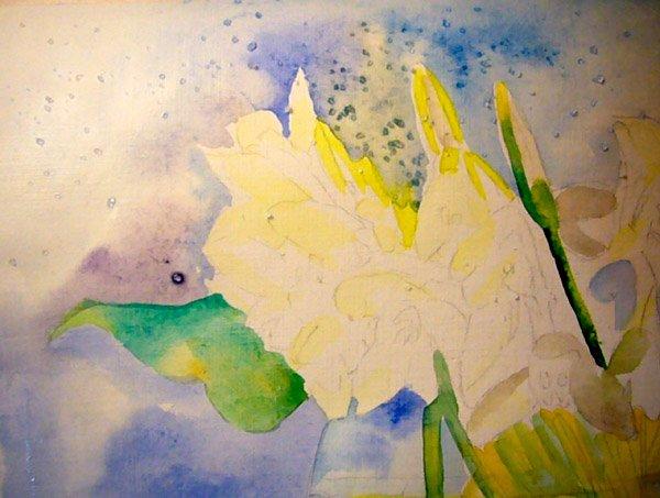 Як малювати підсніжники крок 5