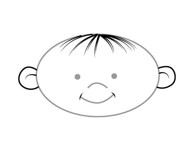 Як намалювати дітей - обличчя, схема 2
